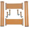 Deambulazione kit in legno per letto con rete divisibile